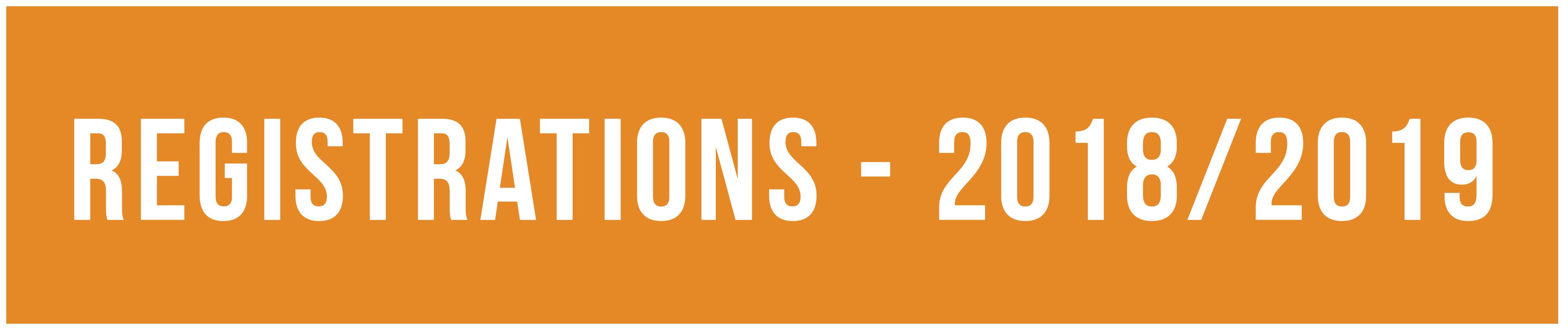 Admissions - 2018/2019